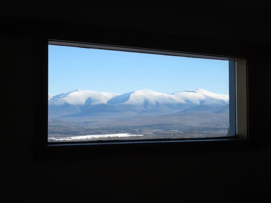 Presidential Range in Winter from the balcony window