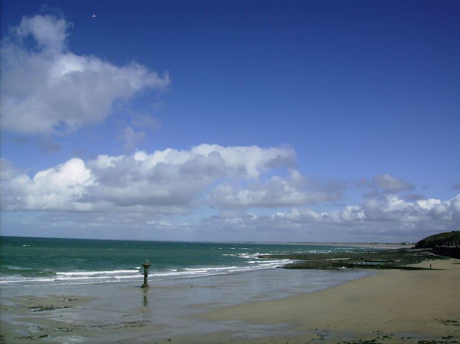 la plage, sauvage et magnifique