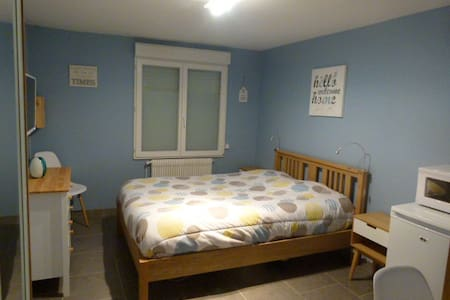 Très grande chambre confortable + TV, 3mn centre - 魯貝(Roubaix)