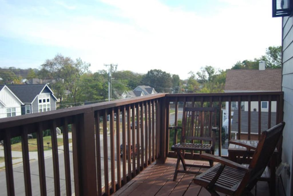 Shared space, a second floor outside deck.