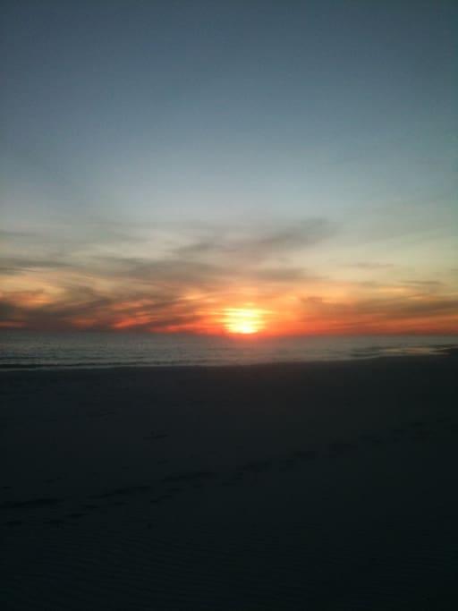 A beautiful sunset over the Gulf