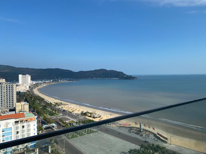 Beach front★2BR Panoramic Seaview★Balcony