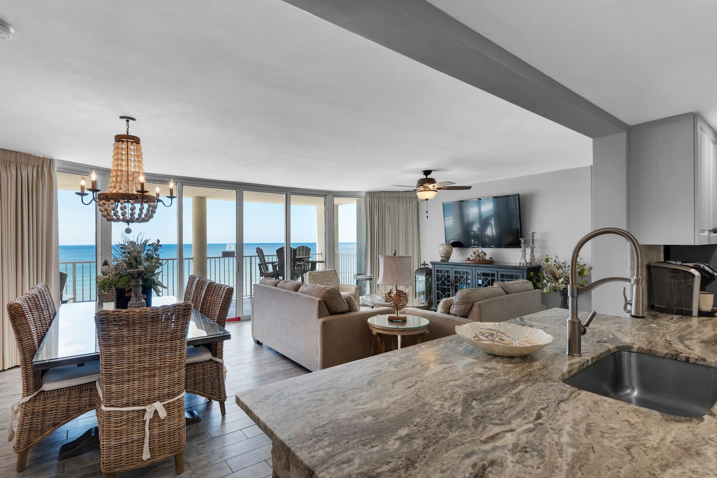 Amazing 3-Bedroom Condo with open concept floor plan.  Set of Two complimentary Beach Chairs included. Located at the Long Beach Resort Tower 4, 8th floor.