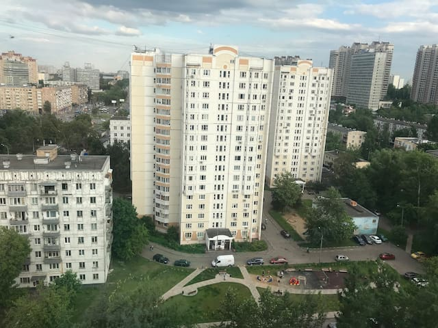The stunning view to Soviet buildings of 60th and 70th. From the 17th flore.