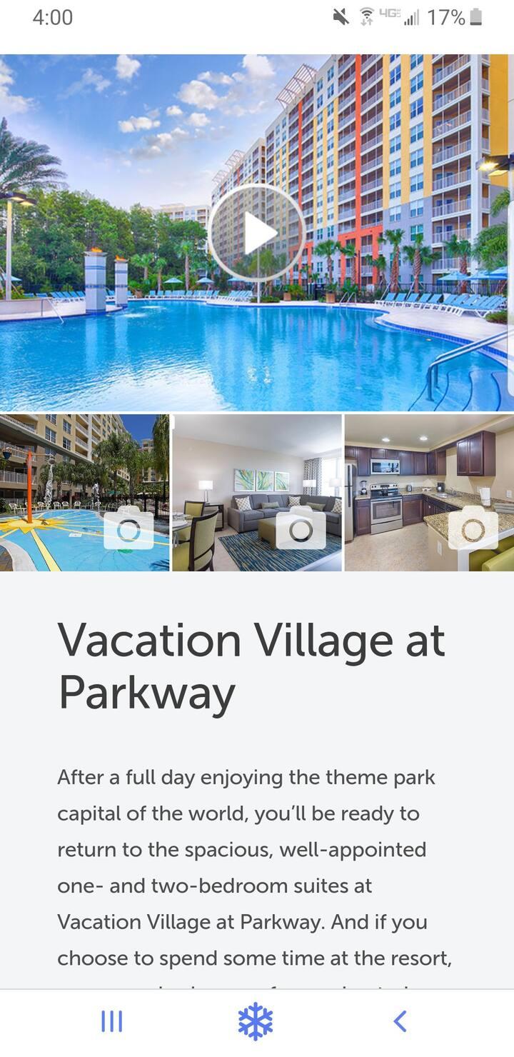Vacation Village Resort minutes from Disney World
