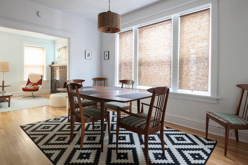 View of dining room from the hallway.