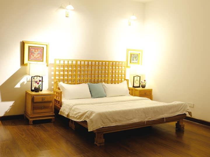 南宁蘭韵花园小院 / 一室一厅商务大床房 / 榻榻米 / 休闲中式古典风花园别墅