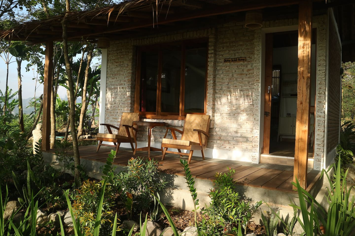 Sawah Breeze House in the morning light