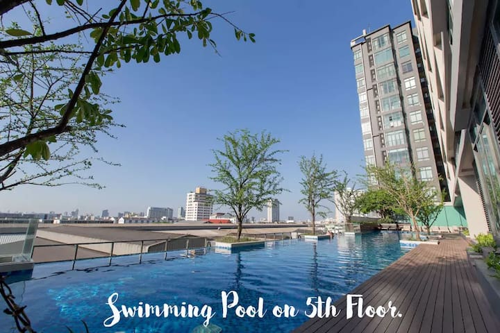BTS 2 mins walk,WIFI,SWIM,Free,Speak English & 日本語 - Bangkok - Appartement