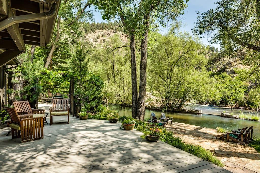 Private pond off of Boulder Creek