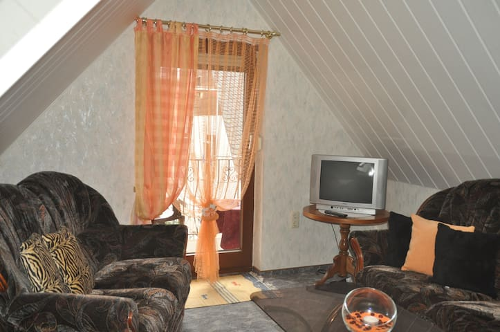 2-Raum-Wohnung, gemütlich, voll ausgestattet - Mülsen - 公寓