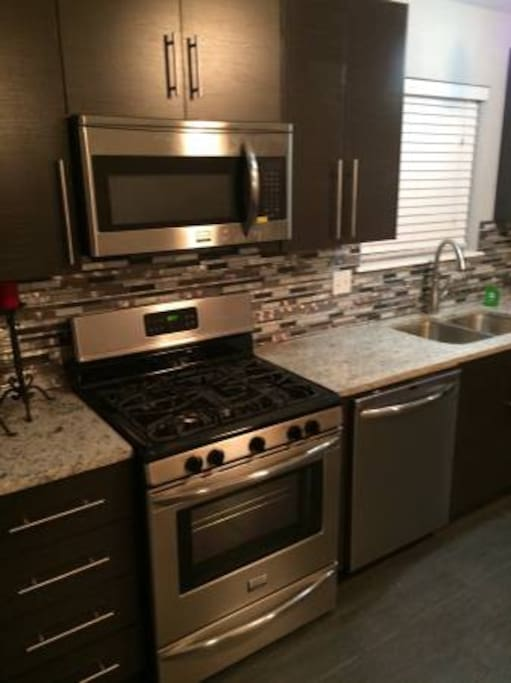 Granite and stainless steal appliances, nothing is too good for our guests