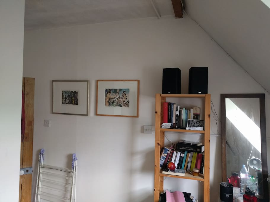Your room with some drawings, books etc.