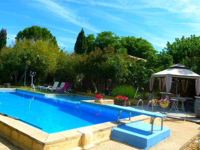 belle piscine de 12X5.5 m