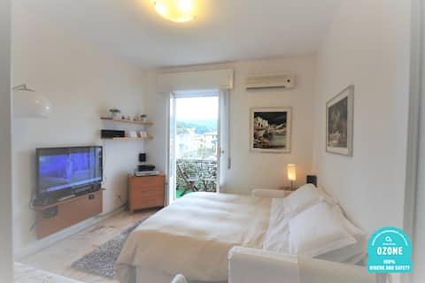 Apartamento penthouse de um quarto na área do porto