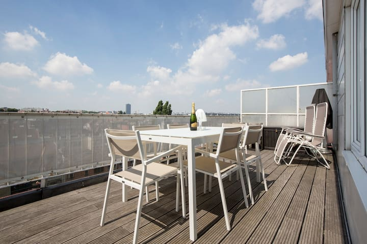 Cosy penthouse - panoramic view - fully equipped