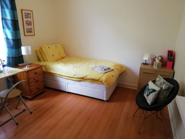 Spacious room in quiet location