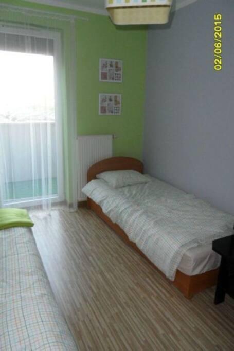 Room 2- 2 single beds.