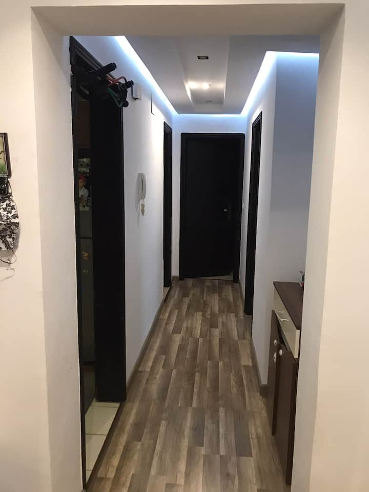 100 meter flat fully furnished modern,two bedrooms