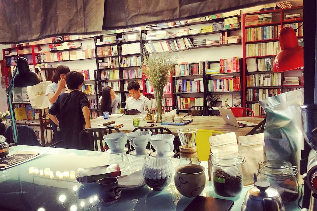 Right outside your door is the famous boutique Kafka bookstore (Vietnamese books only but English coming soon).