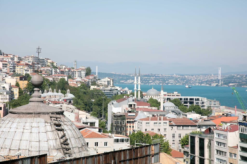 City view from the terrace