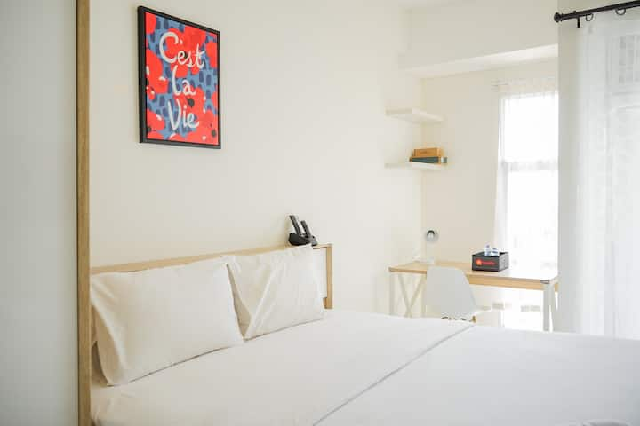 Cozy and Simple Studio Apt Akasa Pure Living BSD