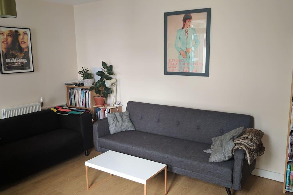 Sofa bed (grey)