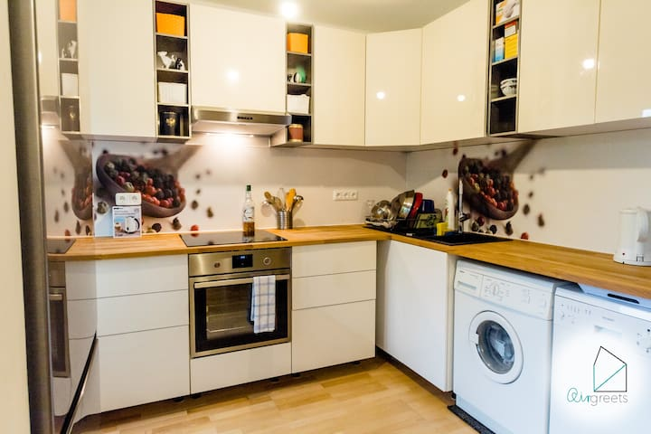A wonderful kitchen which inspires you to cook.