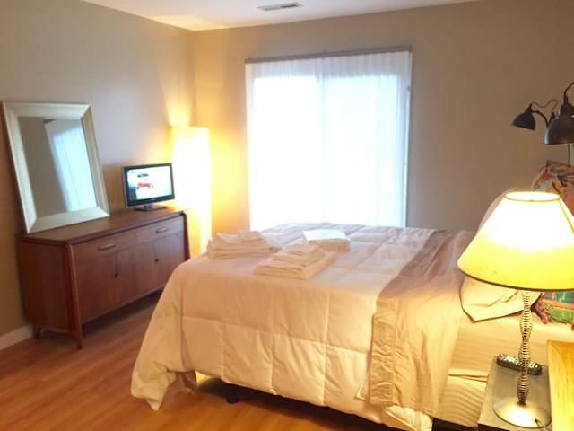 Master bedroom with TV
