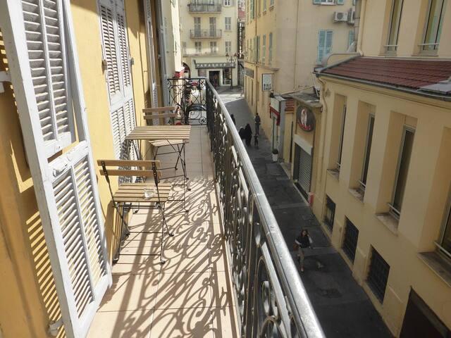 Studio balcon plein centre à 50m Place Massena - Nizza - Condominio
