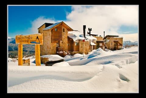 Casa & Spa en cerro Chapelco con vista panoramica