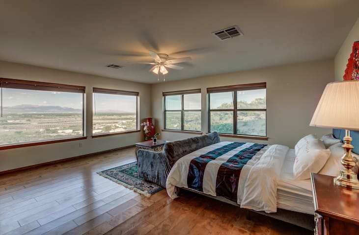 Spacious master includes ensuite and huge walk-in closet.