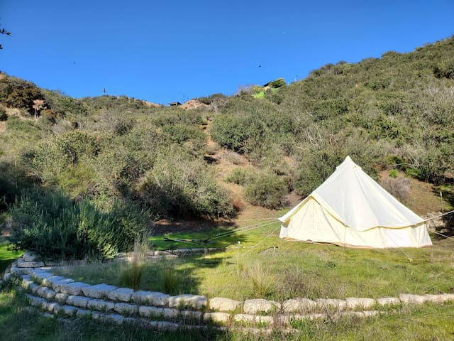 BELL TENT WITH MANSION USE IN STATE PARK ESTATE