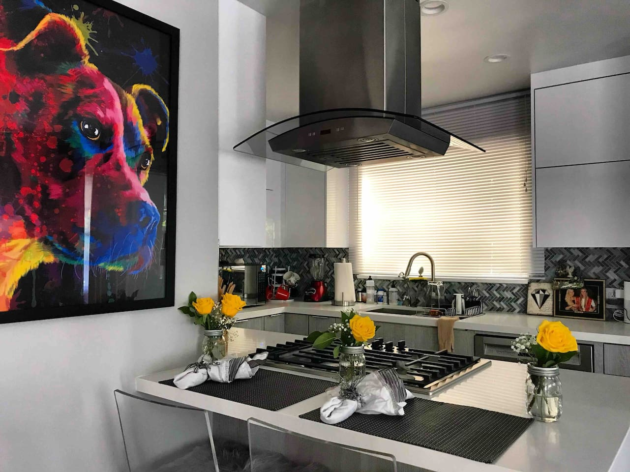Newly remodeled kitchen with a new style