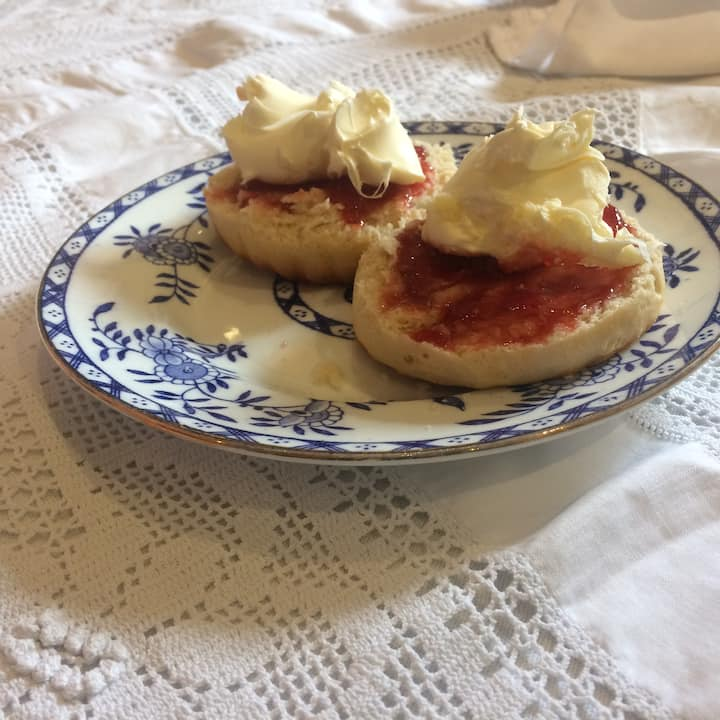 Cream Tea with scones, jam & cream
