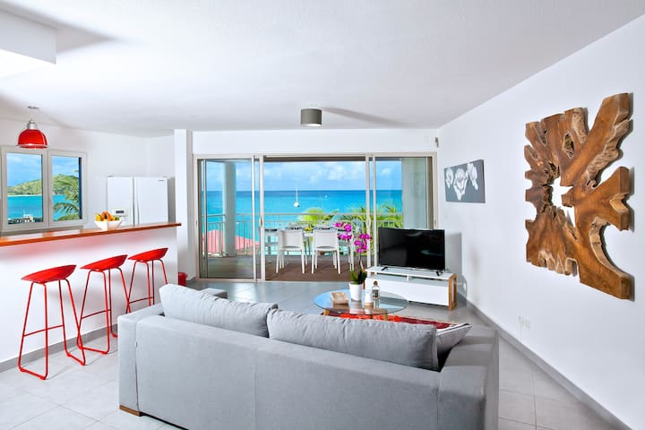 NEW & CENTRAL on Grand Case Beach. Pool, Parking. - Grand-Case - Appartement