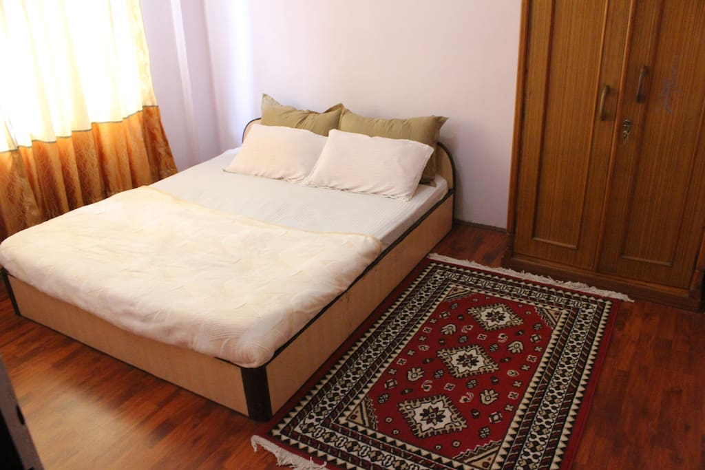 Beds with comfortable pillow and mattress