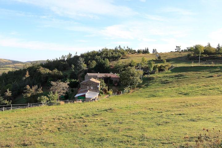 Grande maison dans un cadre sauvage et naturel
