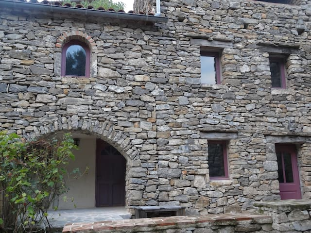 Charming stone gite overlooking private terraces