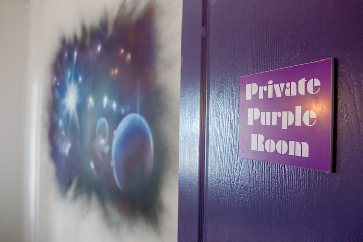 Private Purple Room in Soul Hostel