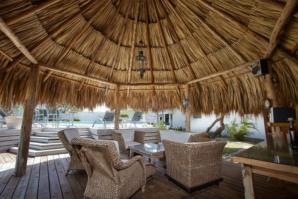 Palapa @ the pool for shade