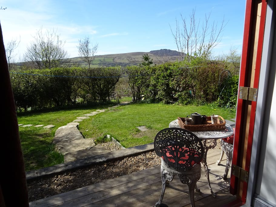 The west facing garden is all yours for your stay, with a lockable external door to the bedroom and bathroom