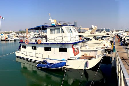 An entire houseboat with 3 bedrooms in Abu Dhabi!
