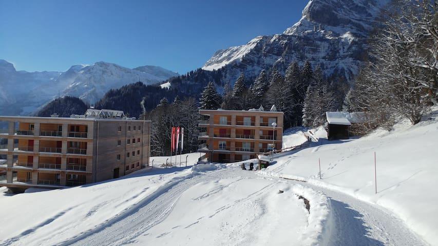 Waldhaus Braunwald- 2 Zimmer Wohnung 1OG - Glarus Süd - Departamento