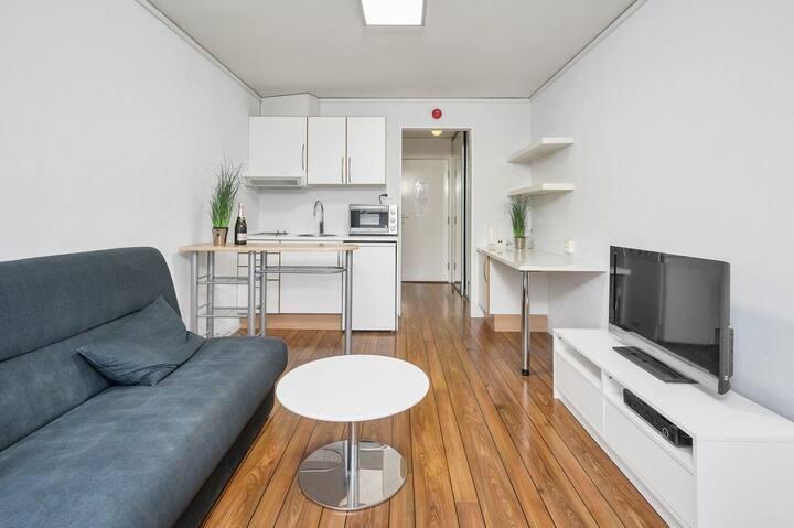 Kvadraturen 1-roms leilighet, sentral beliggenhet
