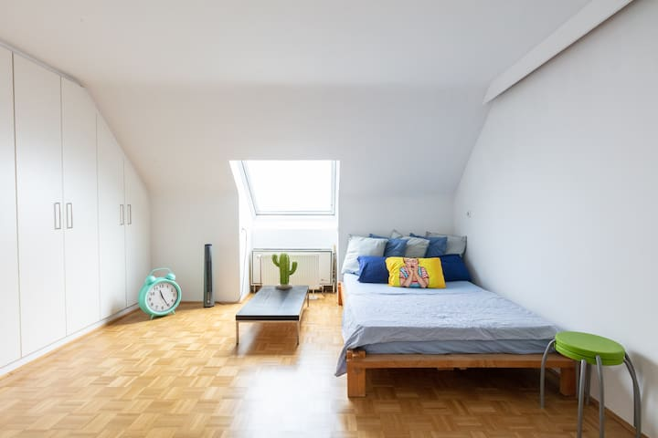 Attic flat in the heart of the city + breakfast