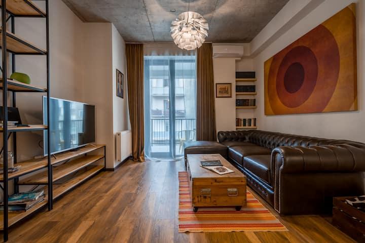 Designer Loft in The City Center - Vake