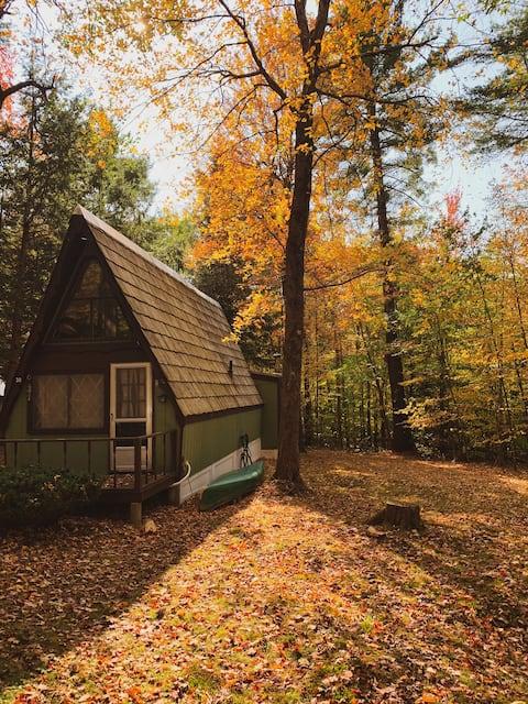 Highland Haus- Cabaña acogedora de armazón en A con estufas de madera