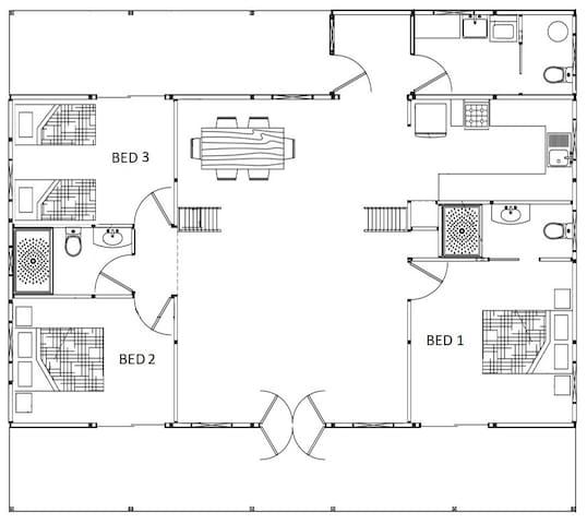 Cedarspan Airbnb floorplan