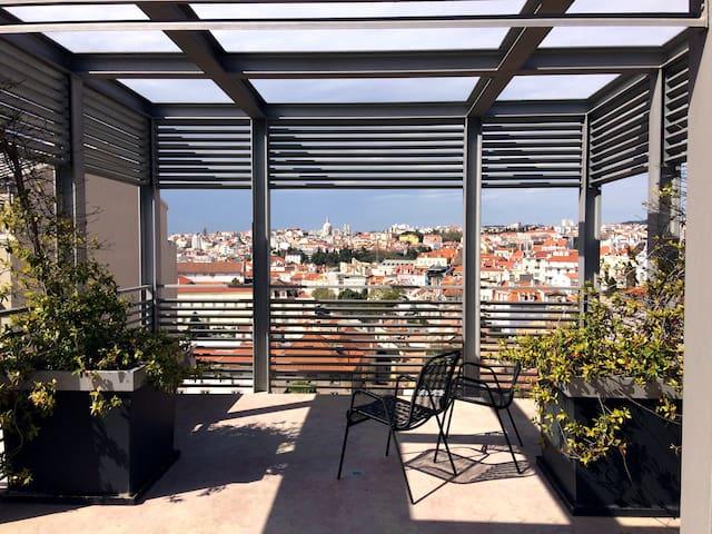 Amplio Studio Boutique con Jardín Condo Lisboa - Lisboa - Apto. en complejo residencial